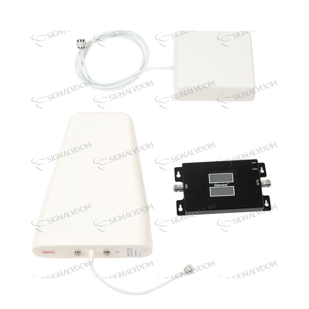 Усилитель сигнала Lintratek 17L 900/1800 mHz (для 2G/4G) 65 dBi, кабель 10 м., комплект