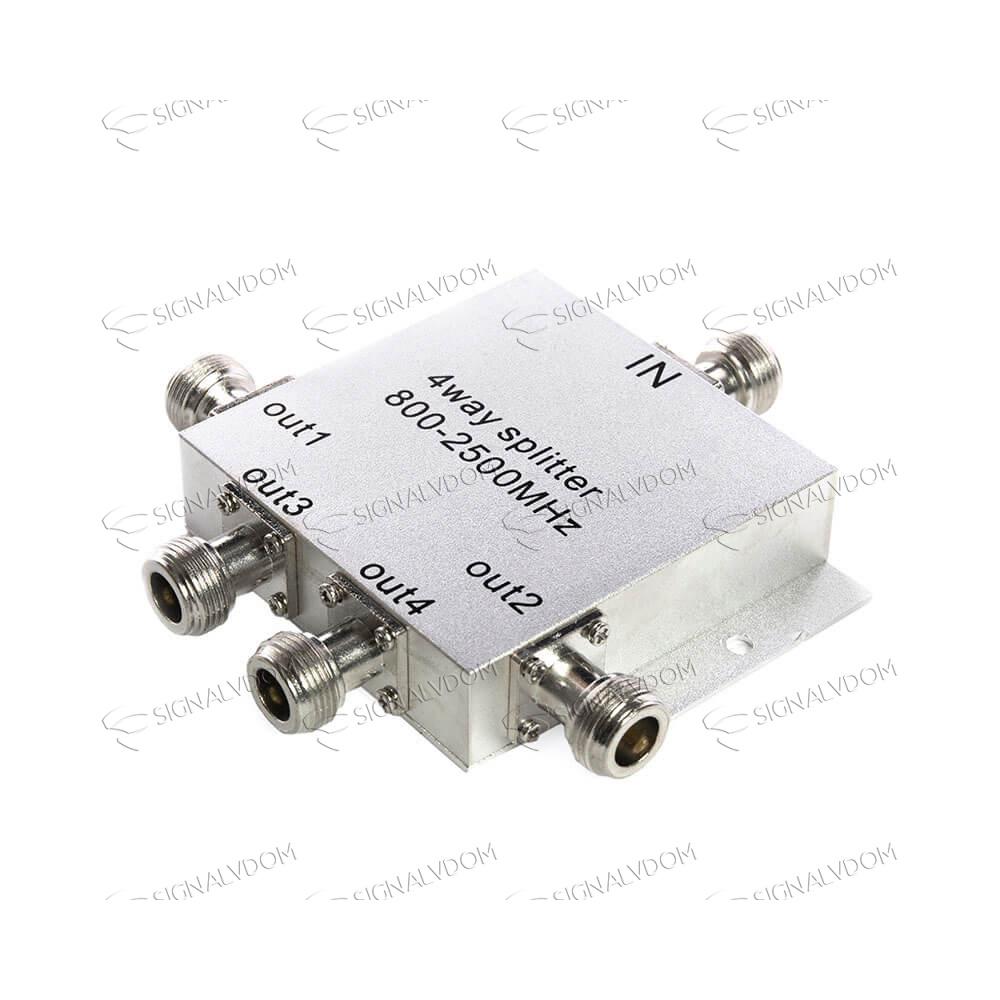 Делитель сигнала c микрочипом (сплиттер) 1/4 WS 506 800-2500 MHz