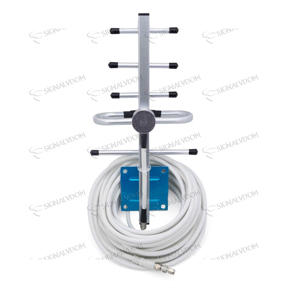 Усилитель сигнала Power Signal 900 MHz (для 2G) 65 dBi, кабель 10 м., комплект - 4